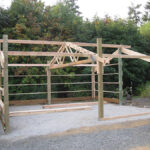 Trusses installed