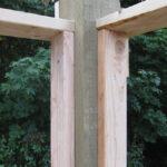 Commercial wall-girt framing at corner post