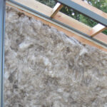 Optional wall insulation before metal is attached
